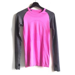Lululemon Run Swiftly Tech Long Sleeve Pink Grey